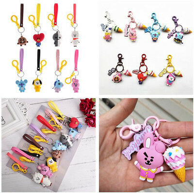 Kpop BTS Bangtan Boys Cute Cartoon Keychain Keyring Pendant Bag Accessories UK