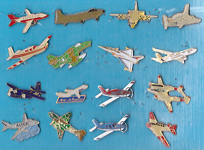 LOT DE 16 PIN'S AVIATION AVIONS AIR DIVERS ++++++++++++++r26++++++++++++++++++