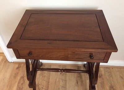 REGENCY STYLE MAHOGANY LYRE-BASE SIDE TABLE  - FREE Local Delivery