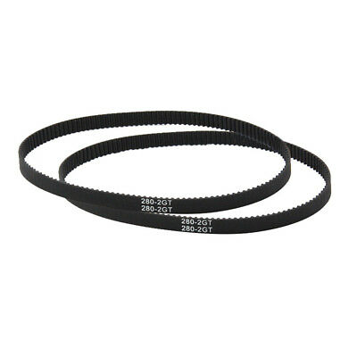 EE_ GT2 Closed Loop Timing Belt 110-852mm Rubber Synchronous 3D Printer Parts Gr