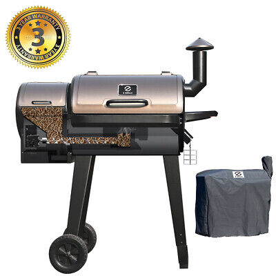 ZGRILLS Wood Pellet BBQ Grill and Smoker with Digital Controls Outdoor Cooking