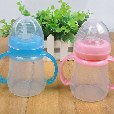 EE_ EG_ HK- 1Pc Infant Baby Kids Feeding Bottle with Spoon Feeder Food Rice Cere