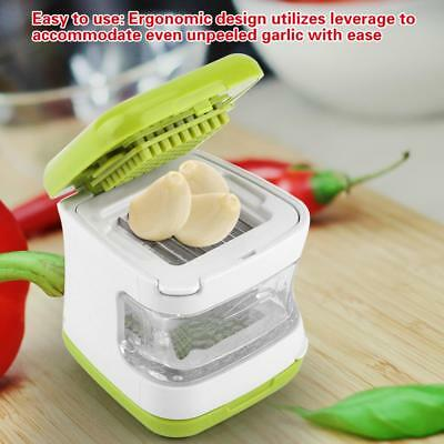 Stainless Steel Home Kitchen Mincer Tool Garlic Press Crusher Squeezer Masher ZY