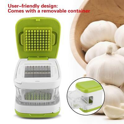 Stainless Steel Home Kitchen Mincer Tool Garlic Press Crusher Squeezer Masher GF