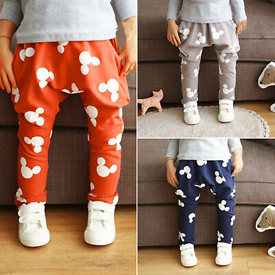 Kids Baby Boys Long Pants Mickey Mouse Cartoon Print Casual Sport Gym Trousers