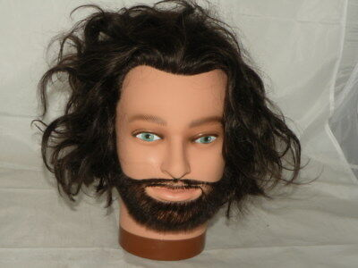 Dimples Hair Salon Training Head - 100% Real Hair - Ready to Use - Mannequin 4