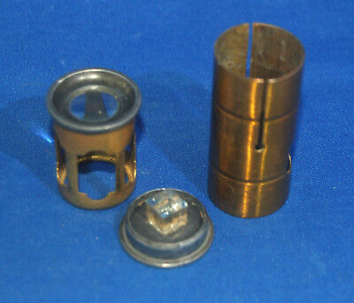 A rare type of antique Victorian brass pocket microscope, florascope