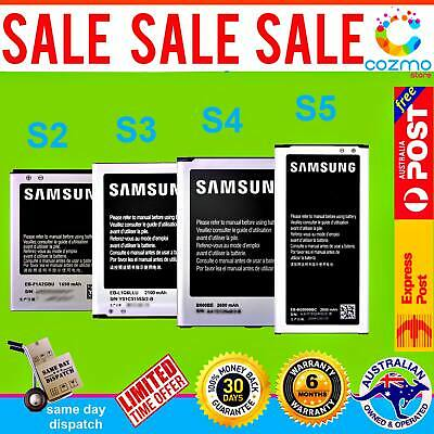 New OEM Battery Replacement for Genuine Original Samsung Galaxy S2 S3 S4 S5 AU