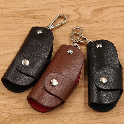 EE_ Fashion Multifunctional Men Wallet Genuine Leather Car Key Case Holder Pouch