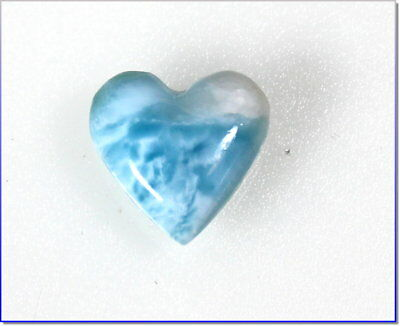 Lovely Natural Sky Blue Larimar Heart Cabochon 20x20x7mm 4.4g