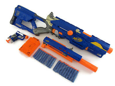 Nerf N-Strike CS-6 Longstrike Sniper Rifle Gun - Barrel, Clip, Jolt Gun New Ammo