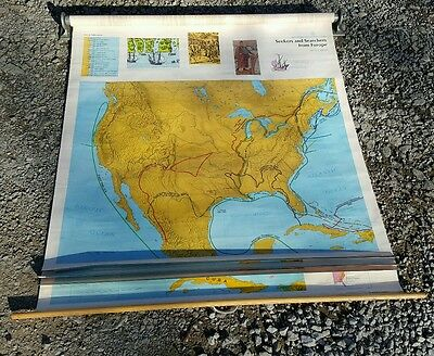 Rand McNally American History Series 4 Pull Down Maps - Colonial to Independence