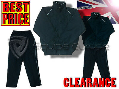 Clearance New Full Youth Tracksuit - Navy - Bigon - Top & Bottom Child