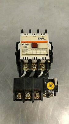 FUJI ELECTRIC SC-2N MAGNETIC CONTACTOR w/TK-5N Thermal Overload Relay 4E