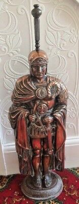 RARE Huge Antique Copper/ Cast Iron Knight/Centurian/Roman Soldier Companion Set