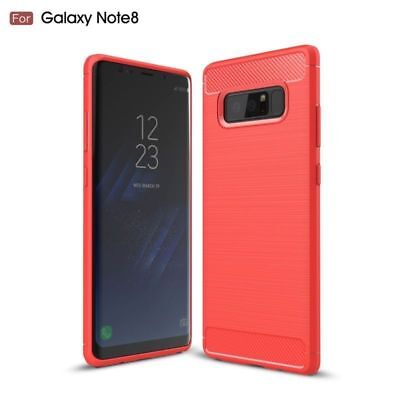 For Samsung Galaxy Note 8/ 9/ S8/ S9/ Carbon Fibre TPU Silicone Gel Case Cover