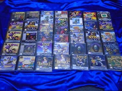 PS1 PLATFORMER GAMES Boxed With Manual - Make Your Selection PAL UK