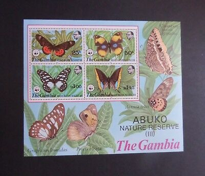 Gambia 1980 Abuko Nature Reserve Butterfly MS MS435 MNH UM unmounted mint