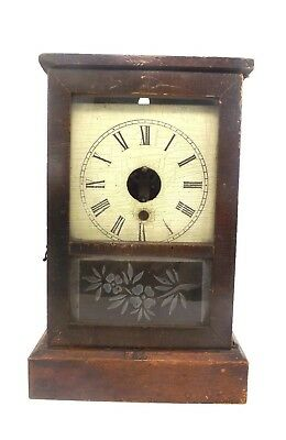 Antique Victorian Wooden Clock Missing Arms Repair