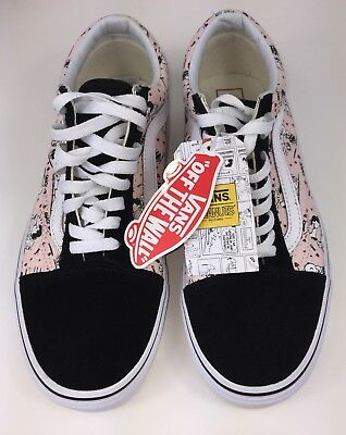 c3972fec65 vans x peanuts Lucy and Snoopy old skool Pink Black size men s 8 Women s 9.5