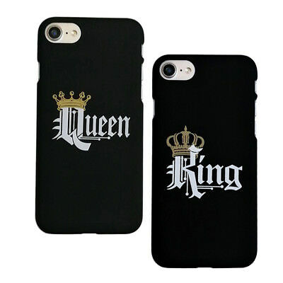 Ee_ King & Queen Crown Matching Couple Phone Case Cover For Iphone X/8/7/6/5 Hum