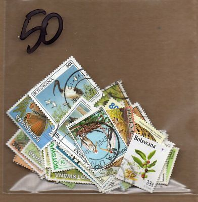 BOTSWANA 50 different starter pack STOCK SCAN