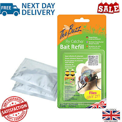 The Buzz Fly Catcher Bait Refill Non Toxic Outdoor Bug Trap Attractant 3 Packs
