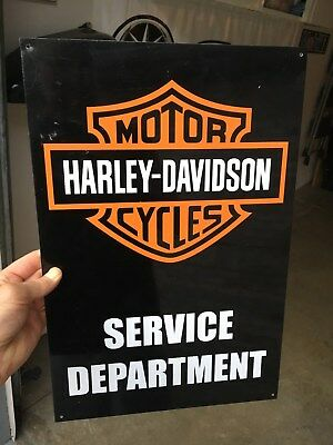 "Original Harley Davidson dealer ""service department"" sign - metal, 12"" x 18"""