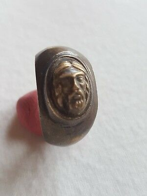 Ancient Roman Bronze   Ring Seal-in original style --