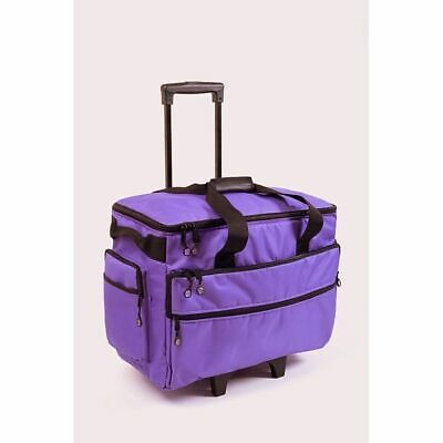 Bluefig TB19 Sewing & Embroidery Machine Case Trolley Purple NEW