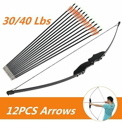 30/40 lbs Adult Right Handed Recurve Bow Archery Bow Shooting Hunting Sporting