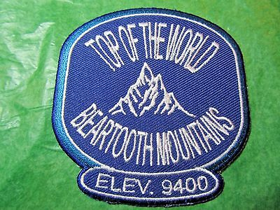Top Of The World Beartooth Mountains Embroidered Patch Montana Wyoming-P51