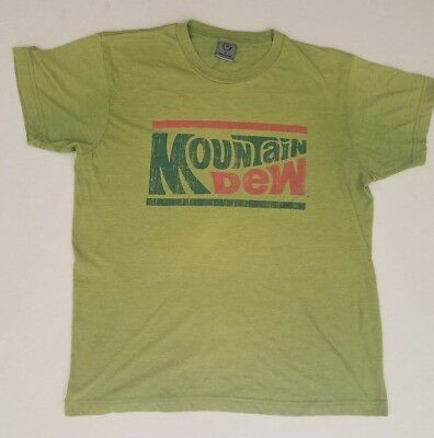 Mountain Dew Soda College Medium T Shirt Ultra Soft Thin ~50/50 Blend (#5)
