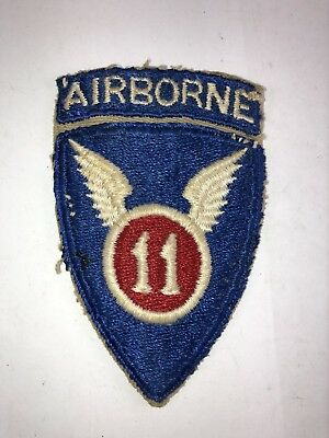 Vintage WW2 Army 11th Airborne Division Shoulder Patch