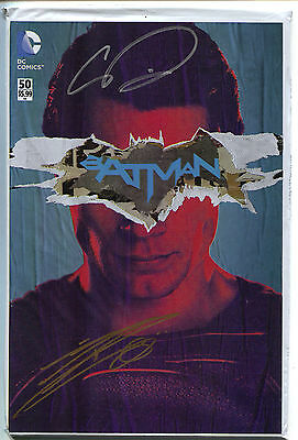 Batman 50 DC 2016 NM Signed Chris Daughtry Danny Miki Polybag Variant Jim Lee