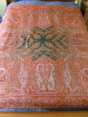 Antique Victorian possibly Norwich paisley shawl 19th cent.