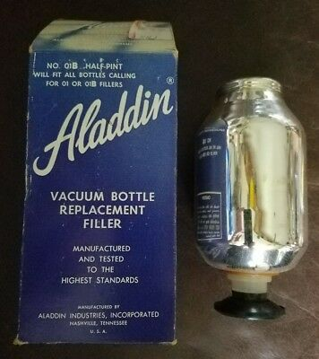 ALADDIN THERMOS VACUUM BOTTLE REPLACEMENT FILLER 01 or 01B HALF PINT NEW VINTAGE