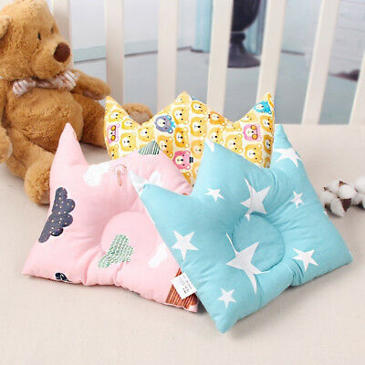 EE_ Soft Cotton Anti-rollover Sleep Shaping Pillow Infant Baby Cushion Crown Sal