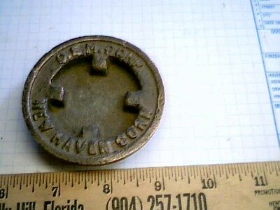 Solid Brass Industrial Tank Cap OEM Corp New Haven CT antique vintage old metal