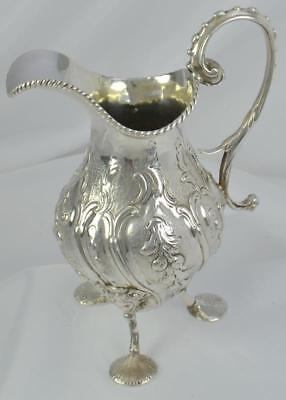 Georgian Sterling Silver Three Footed Pitcher George III London c1770
