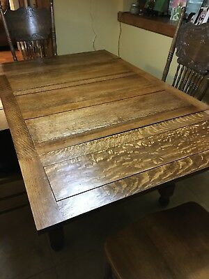 Antique English Barley Leg Table Tiger Wood With Draw Leaves