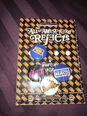 Vintage 4 ALL-AMERICAN REJECTS -Pinbacks Badge Button 2003 New!