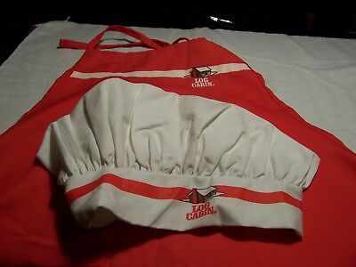 RARE vintage Towle's Log Cabin Syrup Chefs hat and Apron