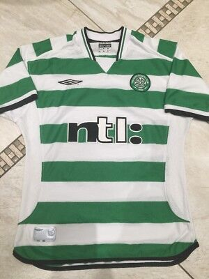 "Celtic Football Home SHIRT : by Umbro   - size 35/37"" Chest"