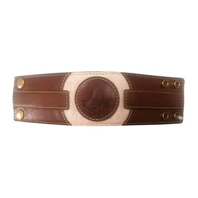 ASSASSIN'S CREED Origins Embossed Crest Wristband, One Size, Brown/Tan (WB100129