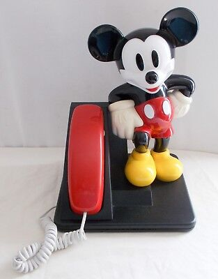 1992 AT&T Walt Disney MICKEY MOUSE Figure Push-Button Telephone