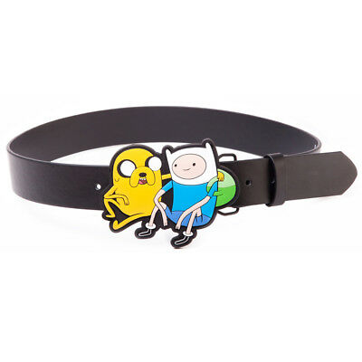 ADVENTURE TIME Black Belt with Jake & Finn 2D Buckle, Large (BT0MW8ADV-L) - BT0M