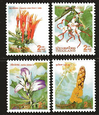 Thailand 1997 New Year Flowers set of 4 Mint Unhinged