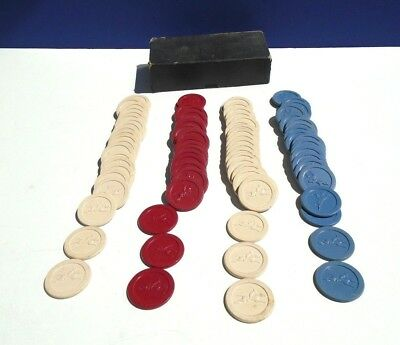 88 Vintage EMBOSSED JOCKEY RACEHORSE Poker Chips - Plastic Or Clay Composite ?