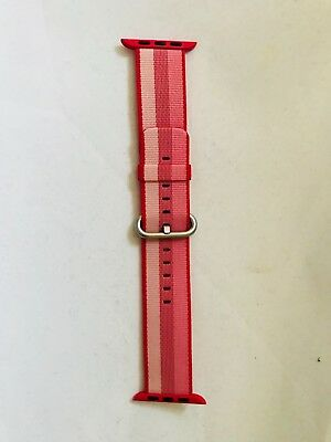 Authentic Genuine Apple Watch Strap 42mm Woven Nylon Berry